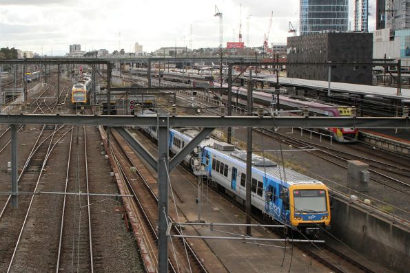 X'Trapolis train enters the Clifton Hill Loop at Southern Cross