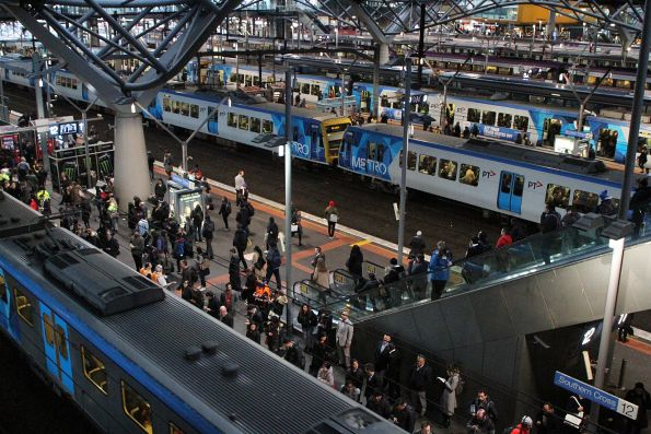 Busy times at Southern Cross Station