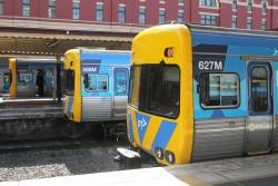 Life extension Alstom Comeng 627M and 588M at Flinders Street