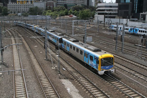 Siemens 812M departs Flinders Street on a down Frankston service