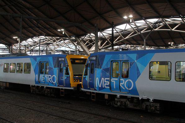 X'Trapolis 887M and 110M at Southern Cross Station