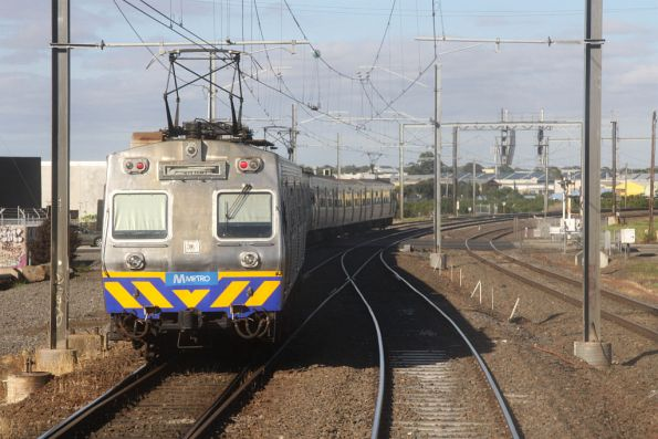 Tail end of a Werribee bound Hitachi at Newport South