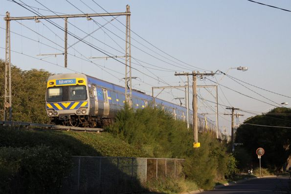 Alstom Comeng 413M on the down at Ascot Vale