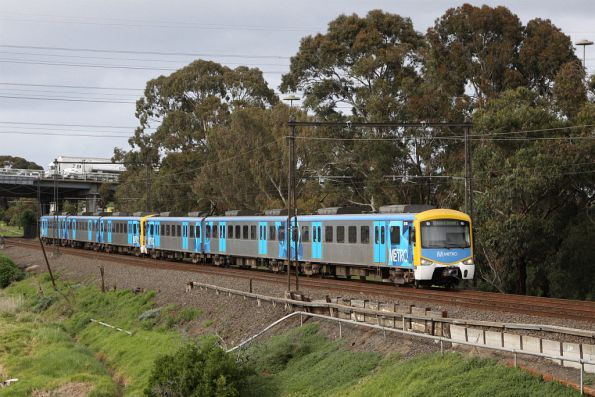 This is getting boring just waiting... Siemens 801M on the up at Yarraville