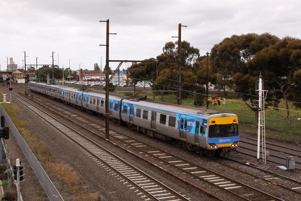 Alstom Comeng 606M on the down at Sunshine