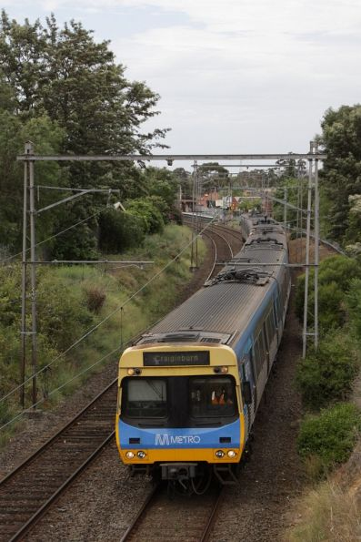 EDI Comeng on the down at Maribyrnong Road, Ascot Vale
