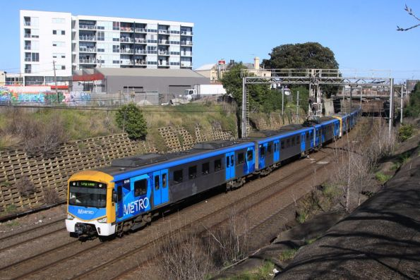 Siemens 824M leads an up Werribee service at Footscray