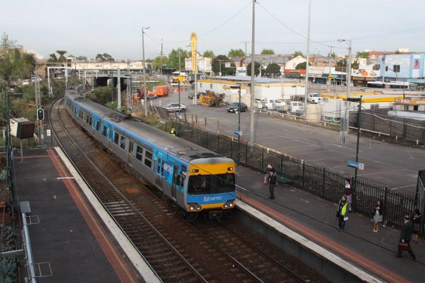 Alstom Comeng 642M on the up at Footscray