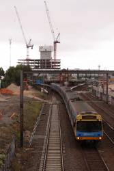 EDI Comeng departs Footscray on the up