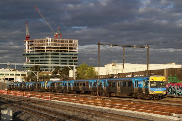 Alstom Comeng 374M on the down at Footscray