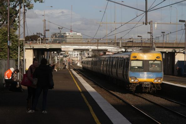 Alstom Comeng on the down passes through West Footscray