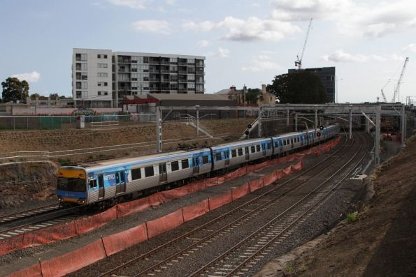 Alstom Comeng 647M on an up Werribee service at Footscray
