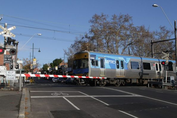 Alstom Comeng 636M departs Kensington station on the up