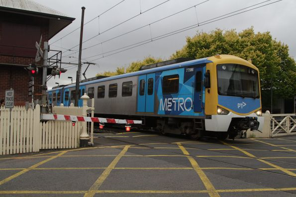 Siemens 779M departs Yarraville on a down Laverton service