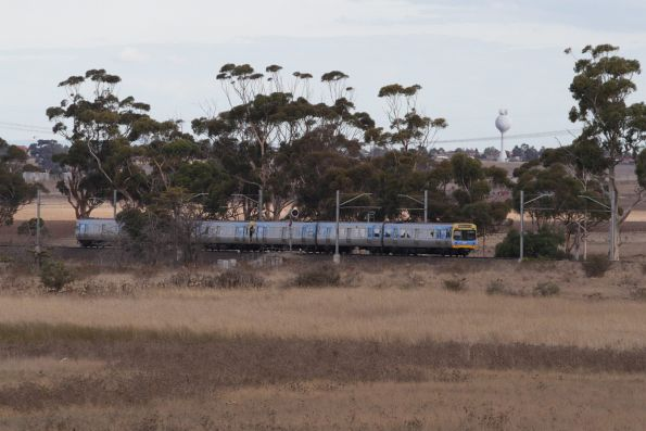 Sunbury service in the open country between Diggers Rest and Sydenham