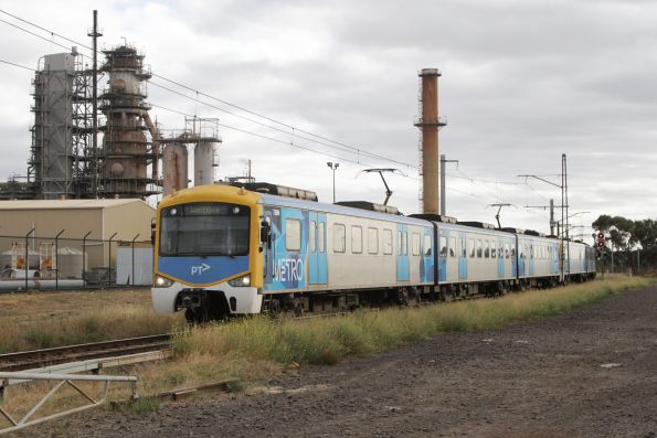 Siemens 758M leads a down Werribee service via the Altona loop at Kororoit Creek Road