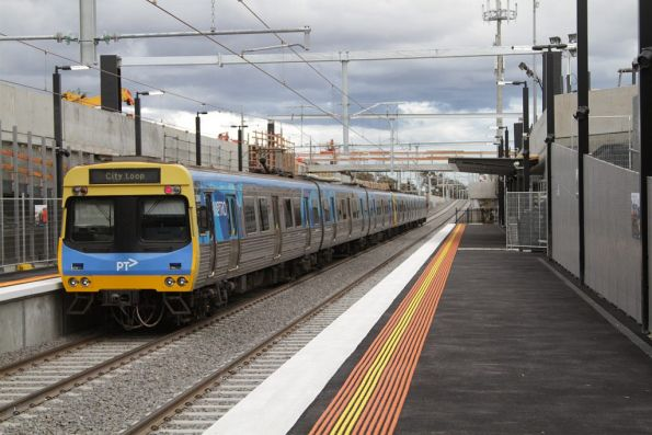 Citybound service departs the new low level St Albans station