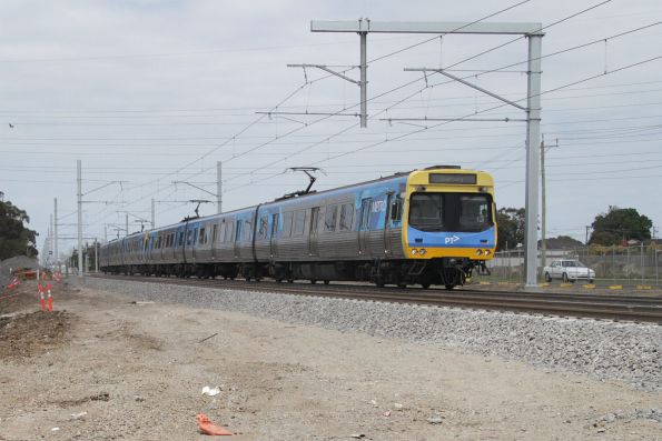 EDI Comeng train back at ground level between Ginifer and St Albans stations