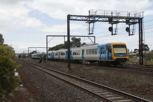 X'Trapolis 36M trails an up Werribee service at Laverton