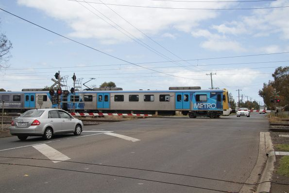 Siemens 788M leads a down Werribee service via the main line at Galvin