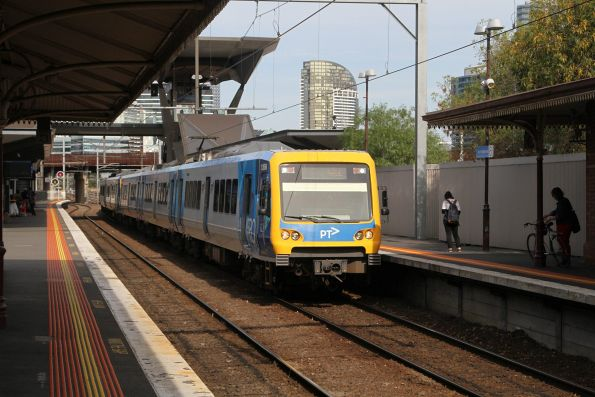 X'Trapolis 126M arrives into North Melbourne on a down Williamstown service