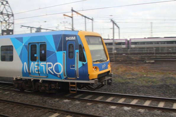 X'Trapolis 949M departs North Melbourne on a down Werribee service