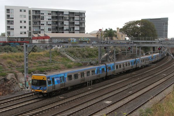 Alstom Comeng 595M on an up Werribee service at Footscray