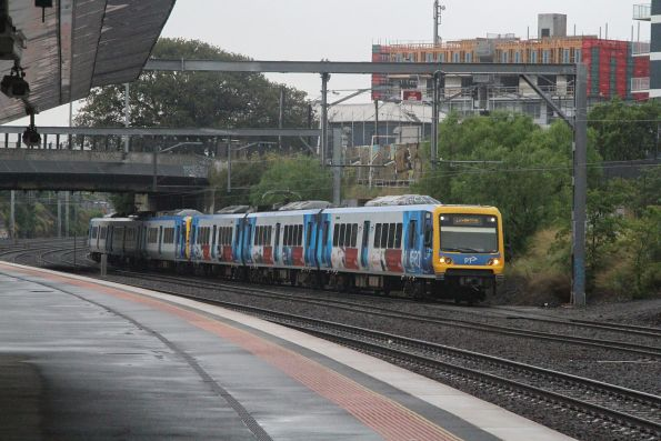 X'Trapolis 55M arrives into Footscray on a down Laverton service