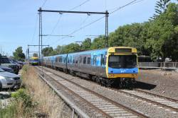 EDI Comeng 358M departs Spotswood on the up
