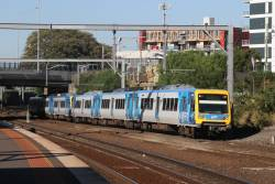 X'Trapolis 14M leads a down Laverton service into Footscray