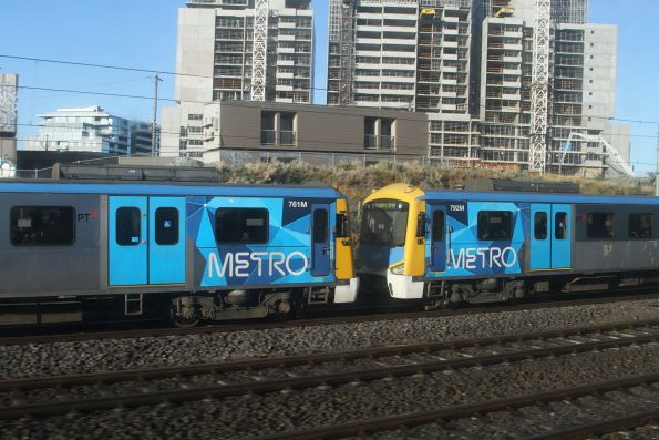 Siemens 761M and 792M on an up Werribee service at Footscray