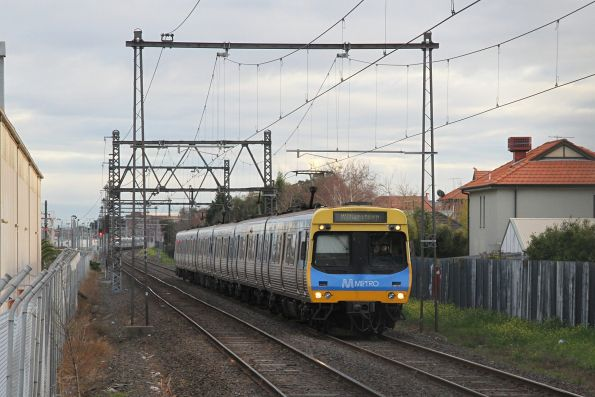 EDI Comeng train arrives into North Williamstown with a down Williamstown service