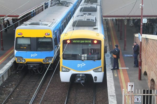 Driver changeovers for Northern Group trains now occurs at North Melbourne station on the down