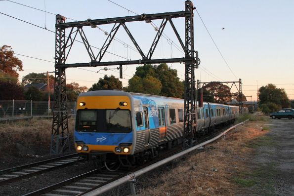 Alstom Comeng train on the down at Spotswood