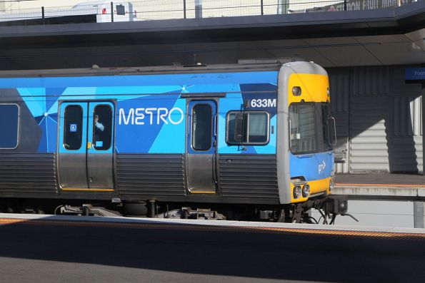 Alstom Comeng 633M on an up Sunbury service at Footscray