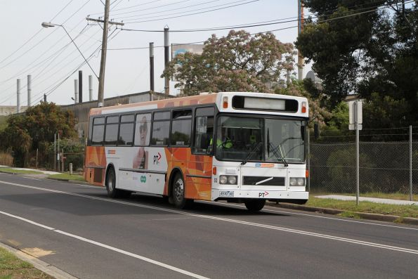 CDC Melbourne high floor bus #53 4930AO heads empty along St Albans Road in Albion bound for Sunshine depot