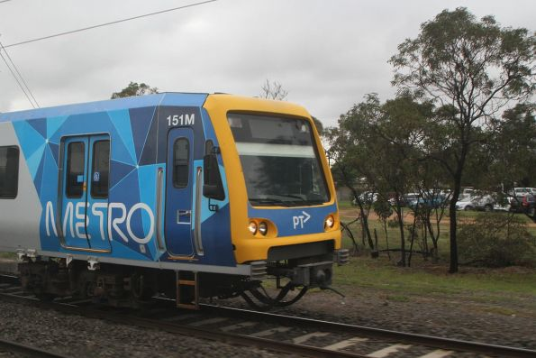 X'Trapolis 151M arrives into Werribee on the down