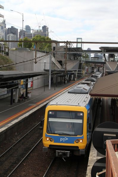 X'Trapolis 863M waiting at North Melbourne platform 2