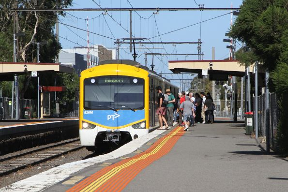 Siemens 826M arrives into North Williamstown on an up Williamstown shuttle