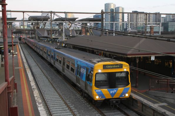 Life extension EDI Comeng 454M arrives into North Melbourne on a down Craigieburn service