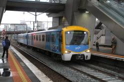 Siemens 711M arrives into North Melbourne with a down Watergardens service
