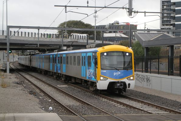 Siemens 719M arrives into Footscray on a down Sunbury service