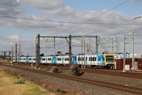 X'Trapolis 899M on a down service via Altona at Altona Junction
