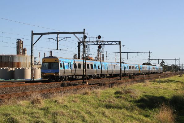Alstom Comeng 527M on an up Werribee service at Altona Junction