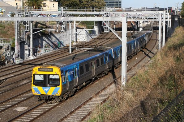 Life extension EDI Comeng 421M arrives into Footscray on a down Watergardens service