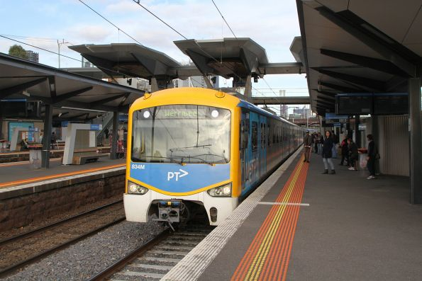 Siemens 834M arrives into North Melbourne on a down Werribee service