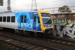 X'Trapolis 205M on a down Werribee service at South Kensington