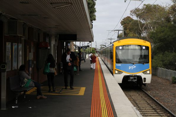 Siemens 722M arrives into Altona on an up Werribee service