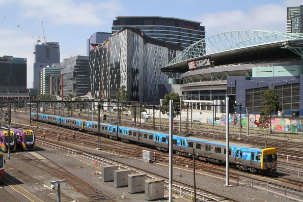 Life extension Alstom Comeng 651M departs Southern Cross on the down