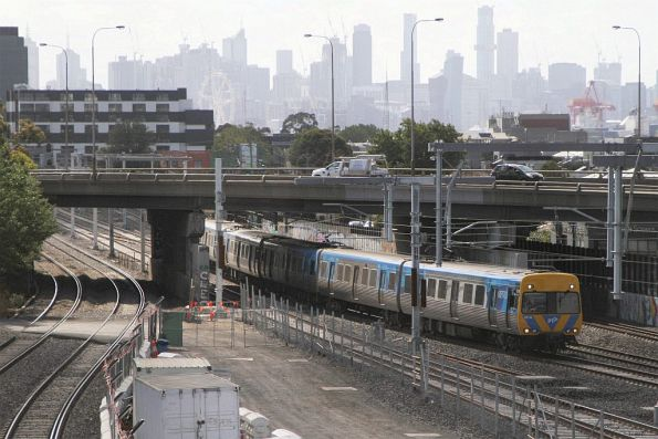 Life extension Alstom Comeng 651M arrives into West Footscray on the down